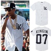 camisetas de uniforme de beisbol al por mayor-2018 llegó el hip hop Tyga Last reyes camiseta uniforme de béisbol Hombres LK ktz jerseys Lastkings camiseta MISBHV camiseta we dem boyz camiseta