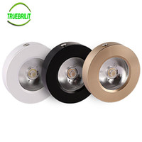 Wholesale Led Downlights 7w - Wholesale- Panel Lamps LED Surface Mounted Downlights 3W 5W 7W Cabinet Showcase Down Lights COB Spot Ceiling 220V 240V
