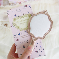 Wholesale Engraved Pocket - LADUREE Les Merveilleuses HAND MIRROR N cosmetics Les Merveilleuses de Ladurée Makeup mirror Compact Vintage Plastic holder pocket mirror