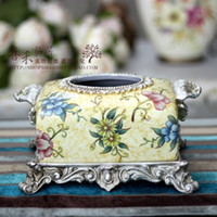 Cheap American Home Furnishings Fashion American Markor Furnishings Binaural Vintage Quality Tissue Box Home Decoration