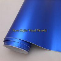 Wholesale Vinyl Tops For Cars - Top Quality Blue Matte Chrome Vinyl Wrap Film Air Free Bubble For Car Wrapping & Vehicle Wraps