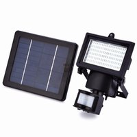 10W 60leds IP65 impermeabile Led Flood Light Pir Sensore di movimento solare Sensore Induction Led Floodlight Lampada pubblicitaria fredda bianca