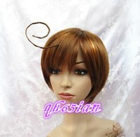 Wholesale Hetalia Wigs - 100%Free shipping New High Quality Fashion Picture Indian Mongolian wigs>>Cosplay Axis Powers Hetalia APH South Italy Lovino Vargas wigs