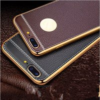 Wholesale Hoco Leather Iphone Cases - HOCO Light Series High quality Transparent soft TPU Cell Phone Shell Clear Mobile phone Protective Cover Case for iPhone 7