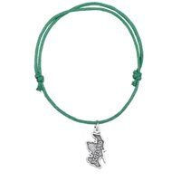 Wholesale fashion scotland - Fashion Wax Cord Bracelet Silver Plated Scotland Map Charm Bracelet Handmade Wristbands High Quality Jewelry For Gift