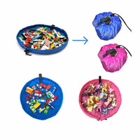 Wholesale Large Round Rugs - Wholesale- 150cm Kids Baby Play Mat Large Storage Bags Toys Organizer Blanket Rug Boxes