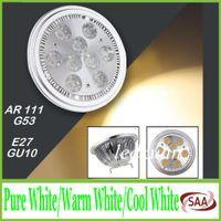 Wholesale Spotlight Led 18w - AR111 Led G53 E27 GU10 14W 18W Led Spotlights ceiling lamp Dimmable QR111 ES111 warm cool white led bulbs 60 beam angle 85-265V