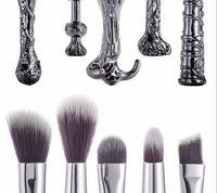 Wholesale Harry Potter Sticks - Harry Potter Magic Stick Wand Hand Makeup Brush Set Makeup Brush 5pcs Set of two-color hairs.