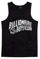Wholesale Tshirt Muscle Print - Free Shipping BILLIONAIRE BOYS CLUB T-Shirt BBC Vest Men Hip Hop Cotton tshirt O Neck billionaire Tops summer muscle tank top men