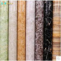 Wholesale Paper Sheet Roll - PVC self-adhesive wallpaper wallpaper thick marble furniture refurbished stickers waterproof cabinets stove Boeing soft sheet-441