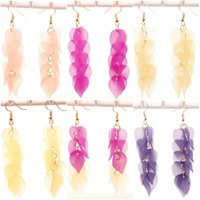 Retro Party Acrylic Flowers Tassel Boucles d'oreilles Bohemia Tiered Long Drop Dangle Tassel Boucles d'oreilles 9 Styles Elegant Jewelry Gift For Women B704L