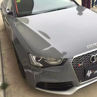 Wholesale Roll Coat - 3 Layers Cement Grey High Gloss Vinyl wrap Like 3m cement ultra Glossy cement Car Wrap coat skin with Air Free Size:1.52*20M Roll 5x66ft