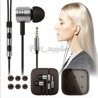Wholesale Xiaomi Crystal - For Xiaomi HIFI Headphone 3.5mm Metal Noise Cancelling Headset In-Ear Microphone Cell Phone Earphones With Crystal Box