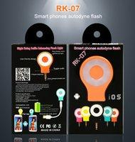 luz de flash para cámara al por mayor-RK07 Retina Flash Led Flash Light Cámara portátil Flash Light Selfie para iPhone 6 6S Plus Samsung Android Camera