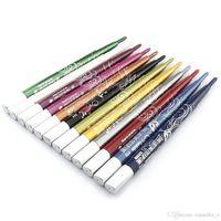 Wholesale Mn Eyeliner Pencil - Wholesale Hot 12Pcs MN Automatic Plasitc Glitter Eyeliner Lip liner 12 Colors Make Up Tool #CZP16