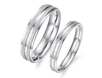 Wholesale Lowest Price Ring Couples - Classical Simple Design Lover's Rings Personalized Dull Polish 316L Stainless Steel Women Men Jewelry Low Price Lovers Rings 2 Piece Price