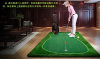 Wholesale Golf green the newest golf training aids Golf practice blanket free send putter golf ball red flag brush golf putting green equipment