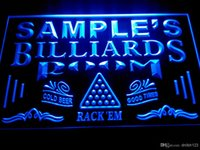 Wholesale Billiards Signs - DZ011-b Name Personalized Custom Billiards Pool Bar Room Neon Sign