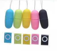 juguetes sexuales de bala de huevo inalámbrico al por mayor-MP3 Control remoto inalámbrico Huevo Vibrador 20 Modos Control remoto Bala Vibrador Sexo Vibrador Juguetes sexuales para adultos 1 * MP3 + 1 * huevo vibrante