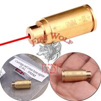 9MM New CAL: 9MM Cartridge Bore Sighter Red Dot Laser Boresighter Sight Hunting Copper Frete Grátis