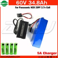 Wholesale 6v Rechargeable Pack - Lithium Battery 60v 34.8Ah High Power 2800w with 5A Charger Built in 50A BMS Rechargeable Battery Pack 60v Free Shipping