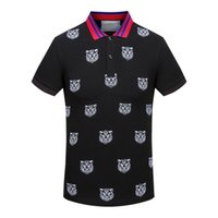 Wholesale Mens Brand Polo Shirt - Mens polo t shirt famous brand tiger embroidery mens designer business polo shirt luxury brand stylish tee shirt D27
