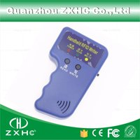 Wholesale id writer - Wholesale-Handheld ID Cards 125KHz RFID Copier Reader Writer Duplicator Used for T5577 EM4305 Copy
