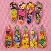 Wholesale Cute Doll Hair Clips - Poke Pikachu Hair Clip Hairpin Figure Dolls Cartoon cute Baby Headwear Clips for Girl Gift Barrettes For Children Hair Accessories OOA672