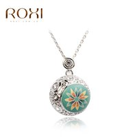 Wholesale German Flowers - ROXI TOP Quality Trendy Spring Ball Girl 100% manmade Jewelry Necklace,Polymer Clay German technology Women Necklace