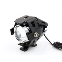 10W Waterproof Motorcycle LED Headlight 3000LMW Motorbike LED Condução Fog Spot Light Light w / switch