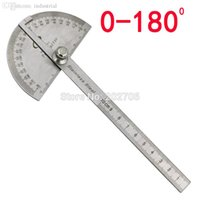 Wholesale Brand New x mm Stainless Steel Protractor angle ruler bevel square ruler steel goniometer