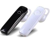 микрофон беспроводные наушники bluetooth оптовых-Мини M165 беспроводной стерео Bluetooth-гарнитура наушники Спорт Mp3-плеер Handsfree наушники с микрофоном универсальный для всех телефонов DHL EAR180