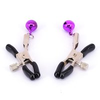 Wholesale Cheap Nipple Clamps - 50pairs lot, Cheap Steel Metal sexy Breast Nipple Clamps Adult Game Fetish Flirting Teasing Stimulators,Sex Toys For Women Nipple Clips