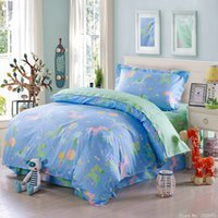 Wholesale Lion King Sheets Full - Kids elephant lion zebra crocodile deer bedding set animal bed linen bedspreads duvet cover sheet twin size 3 pcs 100%cotton