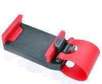 cep telefonları için araba beşiği toptan satış-Evrensel Araba için Streing Direksiyon Cradle Tutucu AKıLLı Klip Araba Bisiklet Montaj Mobil iphone samsung Cep Telefonu GPS Noel Hediyesi US010