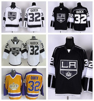 Negro Rápido Baratos-Los Angeles Kings 32 Jonathan Rápido Hockey Jerseys Remate LA Kings Jonathan Rápido Jersey Estadio Serie Casa Camino Away Negro Blanco Amarillo