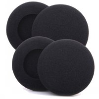 Wholesale cushion foam covered online - 50mm x pairs of Foam pad cushion eartip cover for wireless Headphone