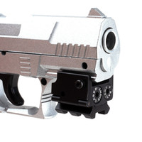 mira del riel de la pistola al por mayor-Mini ajustable táctico compacto punto rojo mira láser alcance adecuado para pistola pistola con riel de 20 mm (ht034)