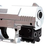 kırmızı lazer görüş alanı toptan satış-Mini Ayarlanabilir Kompakt Taktik Red Dot Lazer Sight Kapsam Raylı Dağı Ile Tabanca Gun Için Fit 20mm (ht034)