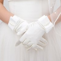 Wholesale elegant collections - 2016 New Collection Bridal Wedding Gloves Short Length With Fingers Good Quality Elegant Wholesale Price