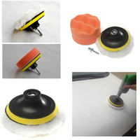 Em todo o mundo 7pcs / set 3 polegadas Buffing Pad Auto Car polimento esponja Wheel Kit com M10 Drill Buffer adaptador