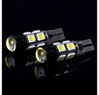 Wholesale International Light Bulbs - CANBUS W5W T10 4 8 12 LED 5050 SMD CON CREE Q5 LAMPADE LUCE BIANCO 1.5W DC 12V 360 degree