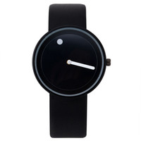 Wholesale Minimalist Designs - Promotion 2018 Minimalist for Wristwatches Black White Design Watch Men High Quality Dot And Line Quartz Fashion Girl Watches