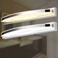 Wholesale Glass Cabinet Lighting - Modern Bathroom Cabinet Led Mirror Light 54cm 15W LED Crystal Bathroom Wall Lamp Mirror Front Wall Light Wall Sconces Washroom Wall Lamp