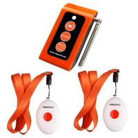 ingrosso pulsante chiamata infermiera-SINGCALL Wireless Calling System.Pager service.Smart Caregiver Due pulsanti di chiamata Caregiver Pager Nurse Alarm