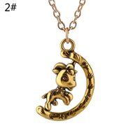 Wholesale Horse Pony Pendant - punk silver copper plated alloy children Colt pony necklace rotatable rotation whirl Rotating Movable pendant Foal horse necklace 2017 x332