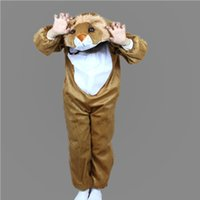 Wholesale Kids Lion Costume - Lion Costumes For Kids Plush One piece Rompers Children Cartoon Animal Cosplay Role Play Stage Performance Halloween Christmas Party