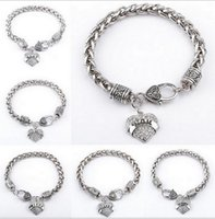 Wholesale Silver Euro Bracelets - Euro-American Hot Fashion Simple Letter Bracelet With Full Jewelry Loving Heart Pendant MIMI Family Member Bracelets For Women