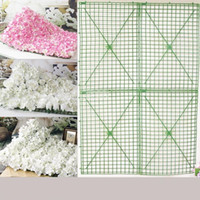 Wholesale Decorative Christmas Flowers - 25*25CM Green Plastic Flower Row Foldable Flowers Bent Sub Rack Wall Arches For Wedding Decoration Supplies 2 9xh B R