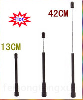 Wholesale Telescopic Antenna Vhf Baofeng - Wholesale-Walkie Talkie Telescopic Antenna SMA-F UHF+VHF Antenna for Kenwood Baofeng UV5R UV5RE UV5RC UV-82 888s H777 HYT PUXING TYT WOXUN
